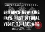 Image of King George VI Belfast Northern Ireland, 1937, second 7 stock footage video 65675069863