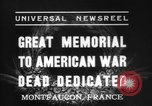 Image of American Memorial Montfaucon France, 1937, second 2 stock footage video 65675069864