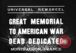 Image of American Memorial Montfaucon France, 1937, second 4 stock footage video 65675069864