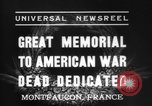 Image of American Memorial Montfaucon France, 1937, second 6 stock footage video 65675069864
