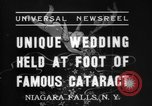 Image of wedding Niagara Falls New York USA, 1937, second 2 stock footage video 65675069865