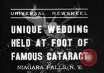 Image of wedding Niagara Falls New York USA, 1937, second 5 stock footage video 65675069865