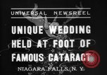 Image of wedding Niagara Falls New York USA, 1937, second 6 stock footage video 65675069865