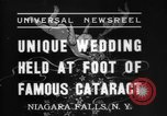 Image of wedding Niagara Falls New York USA, 1937, second 7 stock footage video 65675069865