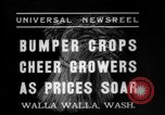Image of wheat harvesting Walla Walla Washington USA, 1937, second 5 stock footage video 65675069866