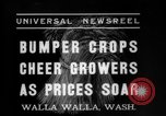 Image of wheat harvesting Walla Walla Washington USA, 1937, second 7 stock footage video 65675069866