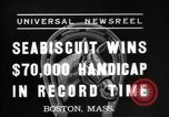 Image of Seabiscuit Boston Massachusetts USA, 1937, second 2 stock footage video 65675069868