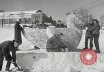 Image of snow sculpture Lake Placid New York USA, 1954, second 6 stock footage video 65675069892
