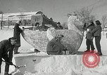 Image of snow sculpture Lake Placid New York USA, 1954, second 7 stock footage video 65675069892