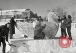 Image of snow sculpture Lake Placid New York USA, 1954, second 8 stock footage video 65675069892