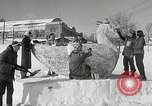 Image of snow sculpture Lake Placid New York USA, 1954, second 9 stock footage video 65675069892