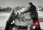 Image of snow sculpture Lake Placid New York USA, 1954, second 10 stock footage video 65675069892