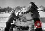 Image of snow sculpture Lake Placid New York USA, 1954, second 11 stock footage video 65675069892