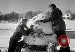Image of snow sculpture Lake Placid New York USA, 1954, second 12 stock footage video 65675069892