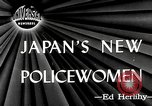 Image of policewomen Tokyo Japan, 1946, second 1 stock footage video 65675069952