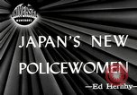 Image of policewomen Tokyo Japan, 1946, second 2 stock footage video 65675069952