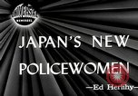 Image of policewomen Tokyo Japan, 1946, second 3 stock footage video 65675069952