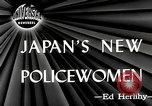Image of policewomen Tokyo Japan, 1946, second 4 stock footage video 65675069952