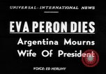 Image of Eva Peron's death Buenos Aires Argentina, 1952, second 1 stock footage video 65675069999
