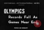 Image of Olympic records Helsinki Finland, 1952, second 1 stock footage video 65675070005