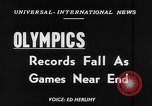 Image of Olympic records Helsinki Finland, 1952, second 2 stock footage video 65675070005