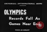 Image of Olympic records Helsinki Finland, 1952, second 3 stock footage video 65675070005