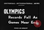 Image of Olympic records Helsinki Finland, 1952, second 4 stock footage video 65675070005