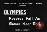 Image of Olympic records Helsinki Finland, 1952, second 6 stock footage video 65675070005