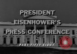 Image of Dwight Eisenhower Washington DC USA, 1958, second 2 stock footage video 65675070006