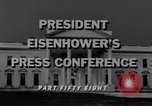 Image of Dwight Eisenhower Washington DC USA, 1958, second 3 stock footage video 65675070006