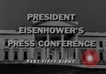 Image of Dwight Eisenhower Washington DC USA, 1958, second 4 stock footage video 65675070006