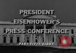 Image of Dwight Eisenhower Washington DC USA, 1958, second 6 stock footage video 65675070006