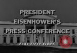 Image of Dwight Eisenhower Washington DC USA, 1958, second 7 stock footage video 65675070006