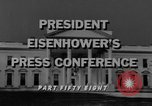 Image of Dwight Eisenhower Washington DC USA, 1958, second 10 stock footage video 65675070006