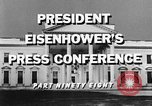 Image of Dwight Eisenhower Washington DC USA, 1959, second 3 stock footage video 65675070008
