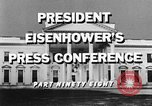 Image of Dwight Eisenhower Washington DC USA, 1959, second 6 stock footage video 65675070008