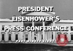 Image of Dwight Eisenhower Washington DC USA, 1959, second 8 stock footage video 65675070008