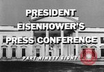 Image of Dwight Eisenhower Washington DC USA, 1959, second 10 stock footage video 65675070008