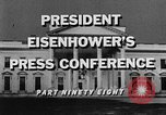 Image of Dwight Eisenhower Washington DC USA, 1959, second 11 stock footage video 65675070008