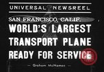 Image of Boeing 314 San Francisco California USA, 1939, second 8 stock footage video 65675070053