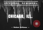 Image of snow storm Chicago Illinois USA, 1939, second 9 stock footage video 65675070054