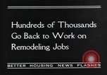 Image of recovery of building industry United States USA, 1935, second 3 stock footage video 65675070082