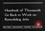 Image of recovery of building industry United States USA, 1935, second 7 stock footage video 65675070082