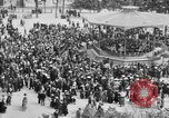 Image of American servicemen watch concert at Place Wilson Brest France, 1918, second 8 stock footage video 65675070091