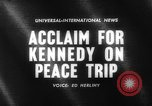 Image of John Kennedy Paris France, 1961, second 2 stock footage video 65675070097
