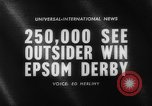 Image of Epsom Derby Epsom Surrey England, 1961, second 3 stock footage video 65675070100