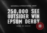 Image of Epsom Derby Epsom Surrey England, 1961, second 4 stock footage video 65675070100