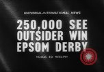 Image of Epsom Derby Epsom Surrey England, 1961, second 5 stock footage video 65675070100