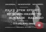 Image of members of Bonus Army Cleveland Ohio USA, 1932, second 4 stock footage video 65675070131