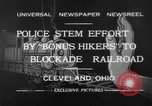 Image of members of Bonus Army Cleveland Ohio USA, 1932, second 10 stock footage video 65675070131